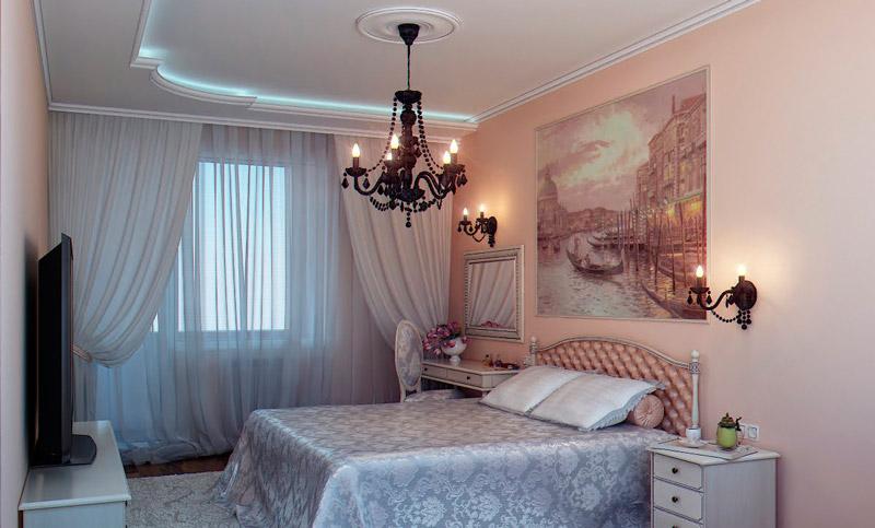 Классические бра в спальне
