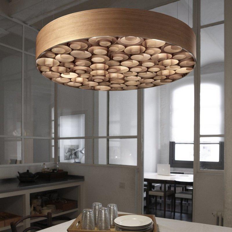 Деревянный потолочный светильник
