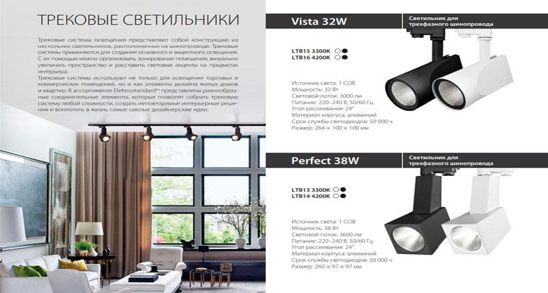 Трековые светильники Elektrostandard