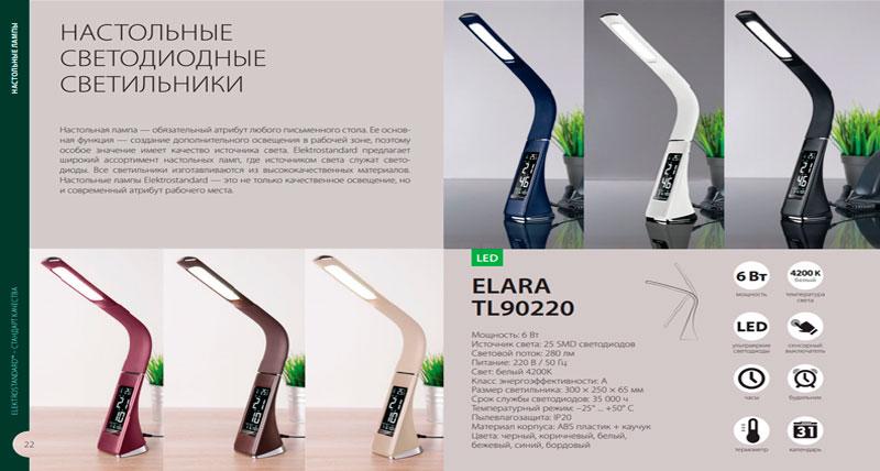 Настольные светодиодные светильники Elektrostandard