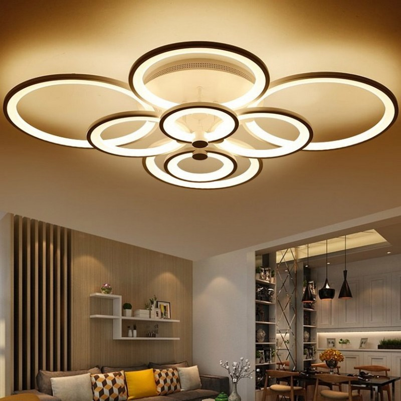 потолочная современная люстра светодиодная