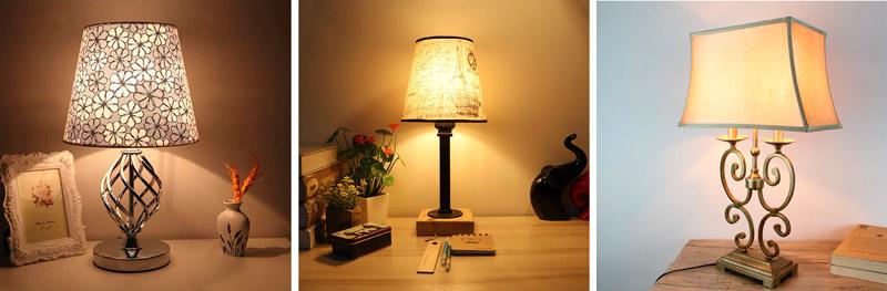 Настольные лампы для спальной комнаты и гостиной