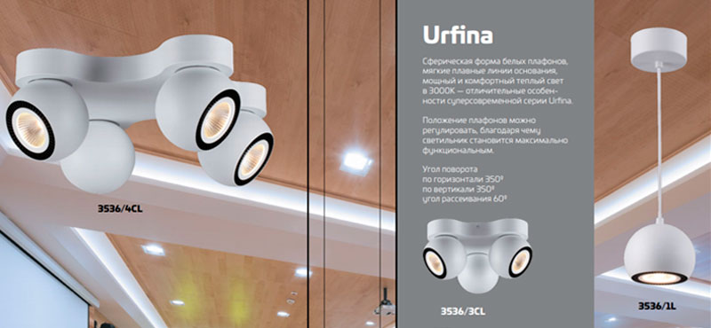 серия urfina Odeon Light