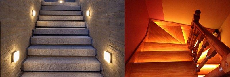Подсветка для лестницы