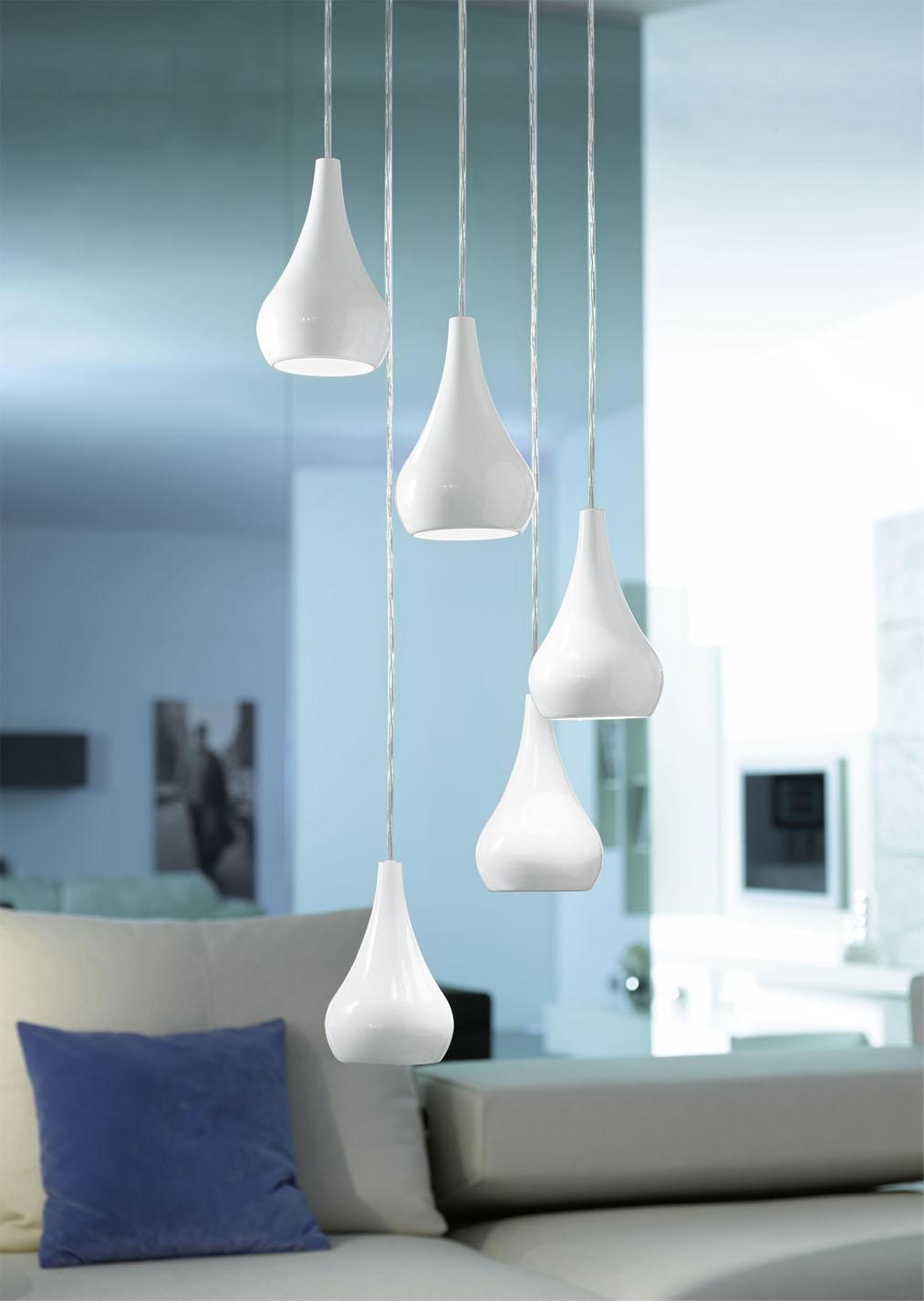 Подвесной белый светильник