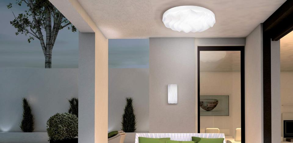 Потолочный светильник в интерьере