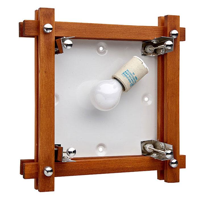 Деревянный потолочный светильник в разборе