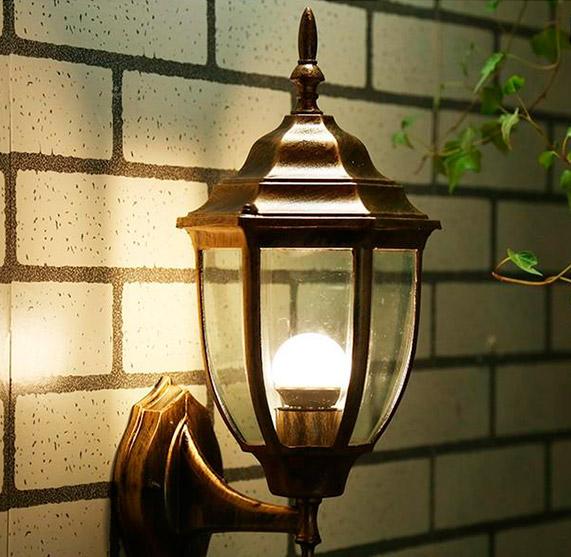 Настенный уличный светильник режим 2