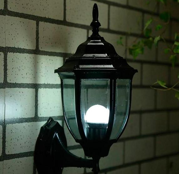 Настенный уличный светильник режим 1