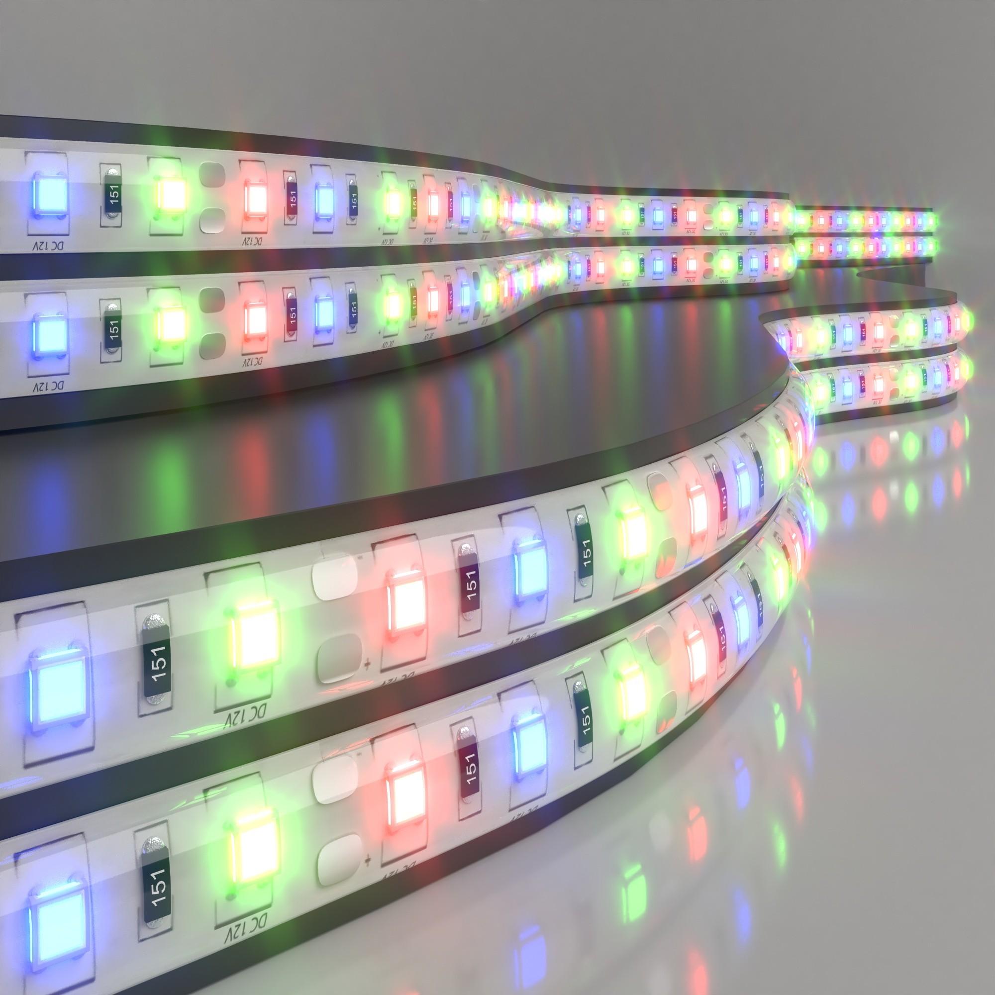 Фото Светодиодная лента Elektrostandard 5050 12V 60Led 14,4W IP65 RGB