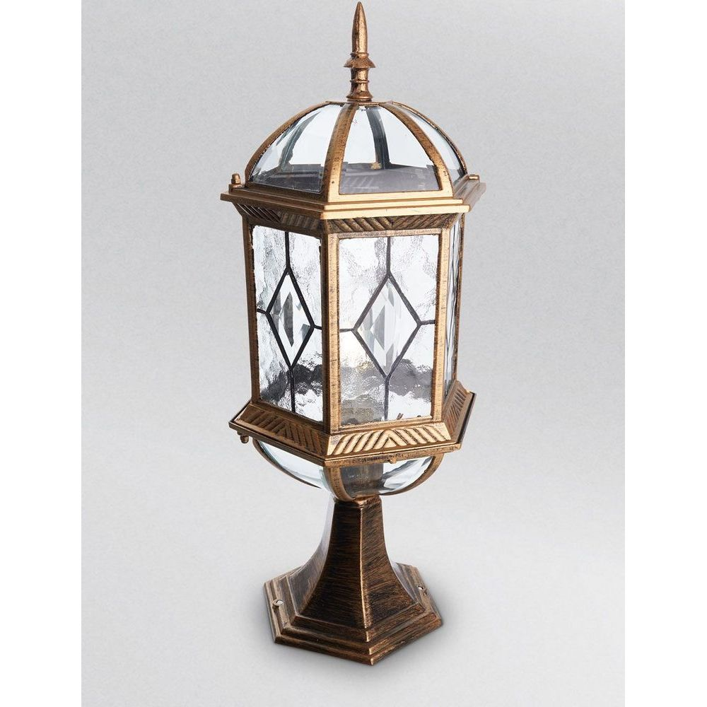 Фото Наземный низкий светильник Feron Витраж с ромбом 11339