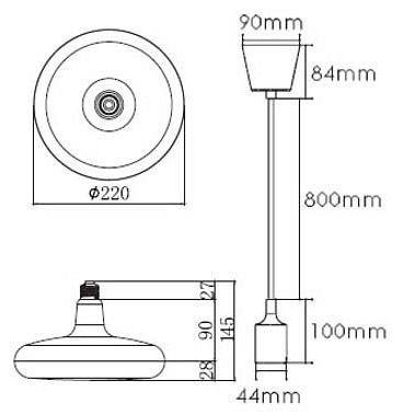 Дополнительное фото 1 товара Подвесной светильник Horoz Electric Sembol HRZ00002175