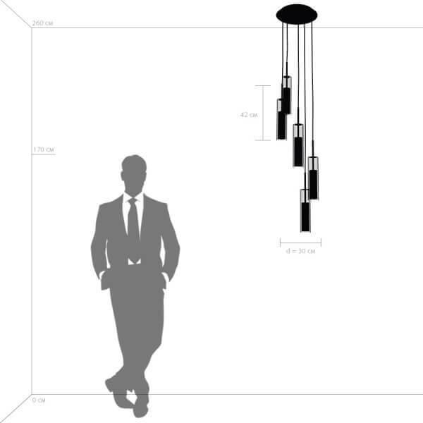 Дополнительное фото 1 товара Подвесной светильник Cilino 756054