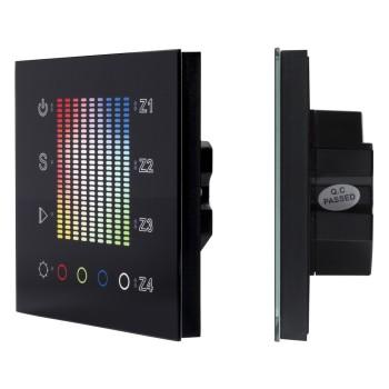 Сенсорные диммеры SR-2300TP-IN Black (DALI, RGBW) 020239