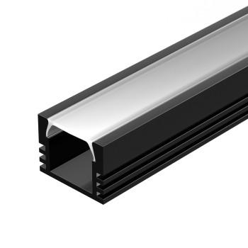 Профиль Arlight PDS-S-2000 ANOD черный RAL9005 20895