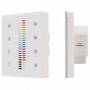 Сенсорный диммер Sens SR-2830C1-AC-RF-IN White (220V,RGB+DIM,4зоны) 020951