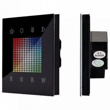 Сенсорный диммер Sens SR-2831S-AC-RF-IN Black (220V,RGBW,1зона) 021036