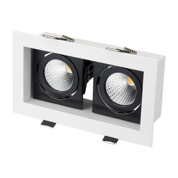 Встраиваемый светильник Arlight CL-KARDAN-S180x102-2x9W Day (WH-BK, 38 deg)