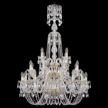 Подвесная люстра Bohemia Ivele Crystal 1402 1402/16+8+4/300/XL-123/3D/G