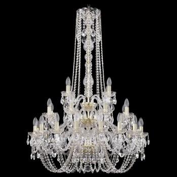 Подвесная люстра Bohemia Ivele Crystal 1402 1402/16+8+4/300/h-123/3d/G