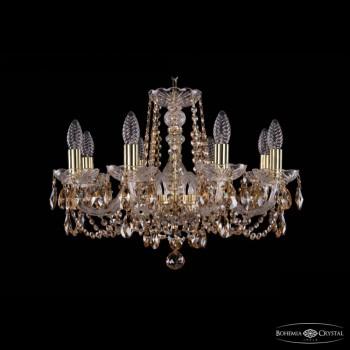 Подвесная люстра Bohemia Ivele Crystal 1402 1402/8/195/G/R721