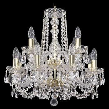 Подвесная люстра Bohemia Ivele Crystal 1402 1402/8+4/160/2d/G