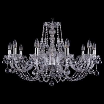 Подвесная люстра Bohemia Ivele Crystal 1406 1406/10/300/Ni/Balls