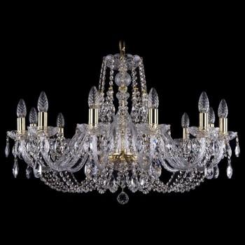 Подвесная люстра Bohemia Ivele Crystal 1406 1406/12/300/G