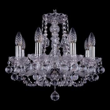 Подвесная люстра Bohemia Ivele Crystal 1406 1406/8/141/Ni/Balls