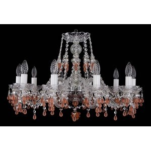 Подвесная люстра Bohemia Ivele Crystal 1410 1410/10/240/Ni/7010