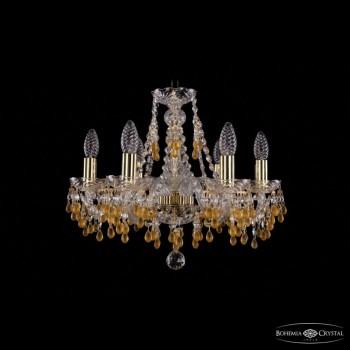 Подвесная люстра Bohemia Ivele Crystal 1410 1410/6/160/G/V1003