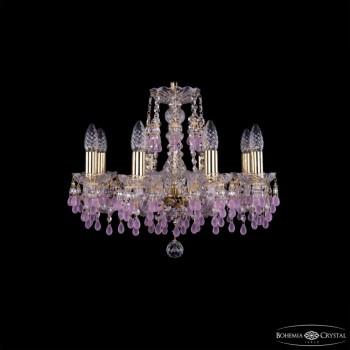 Подвесная люстра Bohemia Ivele Crystal 1410 1410/8/160/G/V7010