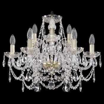 Подвесная люстра Bohemia Ivele Crystal 1411 1411/6+3/195/G
