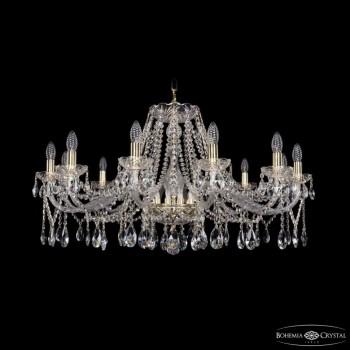 Подвесная люстра Bohemia Ivele Crystal 1413 1413/12/360/G