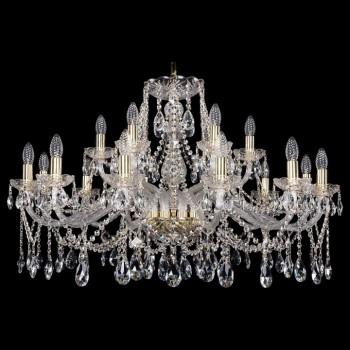 Подвесная люстра Bohemia Ivele Crystal 1413 1413/12+6/360/G