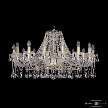 Подвесная люстра Bohemia Ivele Crystal 1413 1413/16/360/G