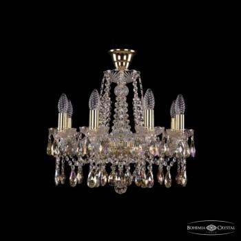 Подвесная люстра Bohemia Ivele Crystal 1413 1413/8/165/G/K701