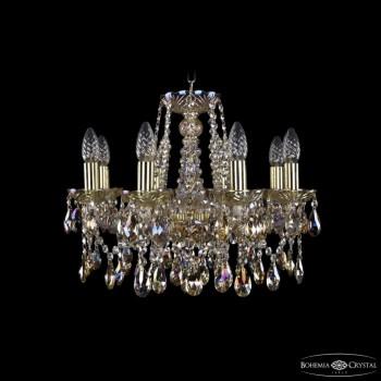 Подвесная люстра Bohemia Ivele Crystal 1413 1413/8/165/G/M701