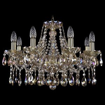 Подвесная люстра Bohemia Ivele Crystal 1413 1413/8/200/G/M701