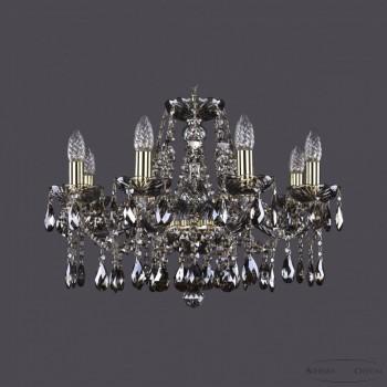 Подвесная люстра Bohemia Ivele Crystal 1413 1413/8/200/G/M731