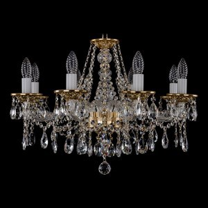 Подвесная люстра Bohemia Ivele Crystal 1613 1613/8/220/G