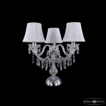 Настольная лампа декоративная Bohemia Ivele Crystal 5703 1403L/3/141-39/Ni/SH41-160