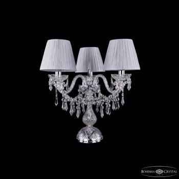 Настольная лампа декоративная Bohemia Ivele Crystal 5703 1403L/3/141-39/Ni/SH6-160