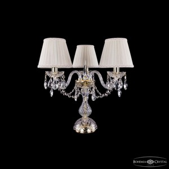 Настольная лампа декоративная Bohemia Ivele Crystal 5706 1406L/3/141-39/G/SH3A-160