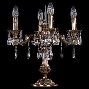 Настольная лампа декоративная Bohemia Ivele Crystal 7001 1702L/4/CK125IV-45/A/GB