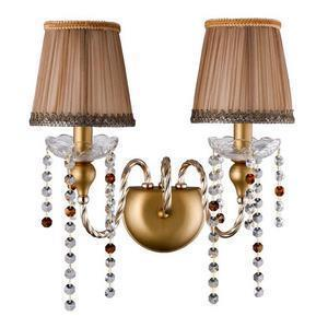 Бра Crystal Lux Alegria ALEGRIA AP2 GOLD-BROWN