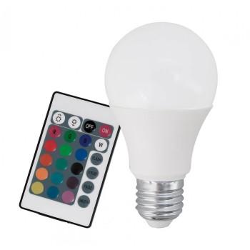 Лампа светодиодная диммируемая с пультом ДУ A60 E27 7,5Вт 3000K 10899