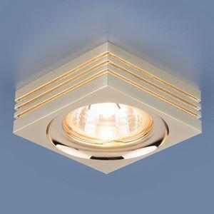 Встраиваемый светильник Elektrostandard 6064 MR16 GD золото