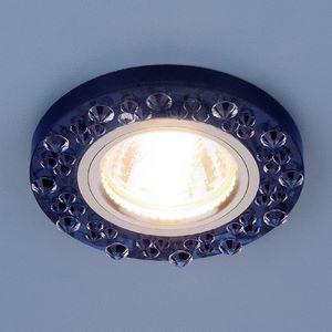 Встраиваемый светильник Elektrostandard 8260 MR16 SP/CH сапфир/хром