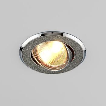 Встраиваемый светильник Elektrostandard 611 MR16 SL серебряный блеск/хром